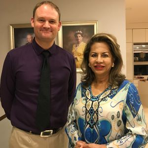 Her Royal Highness Sultana of Pahang and EMF consultant Patrick van der Burght
