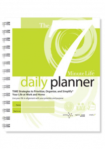 The 7 Minute Life paper Daily Planner time management tool