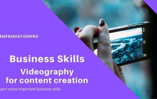 EMF business skills Videography
