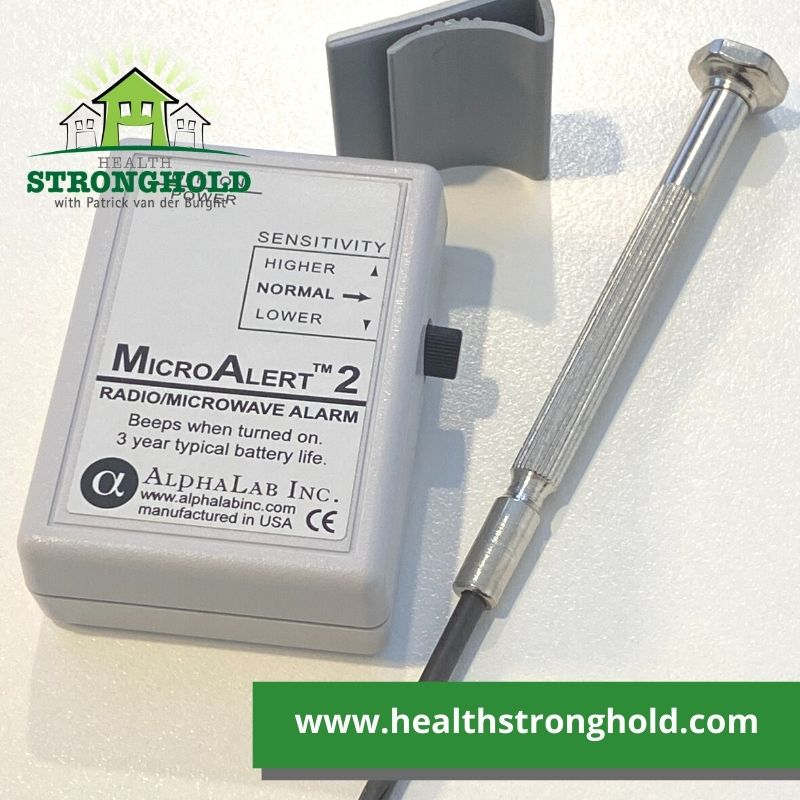 Micro Alert 2 by Alphalab, the tiny personal RF Radiation included items